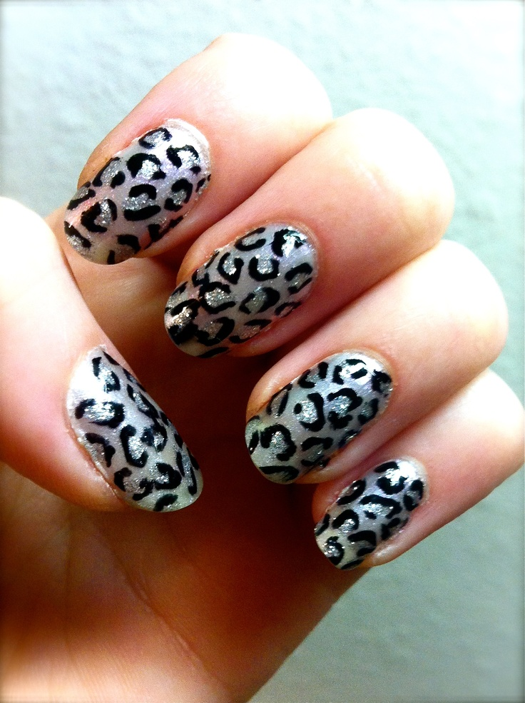 My hand-painted leopard print nails :)