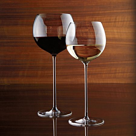 Oliva Pope wine glasses... Scandalous! ♥ {Crate & Barrel  Camille Wine Glasses - extra tall stem}
