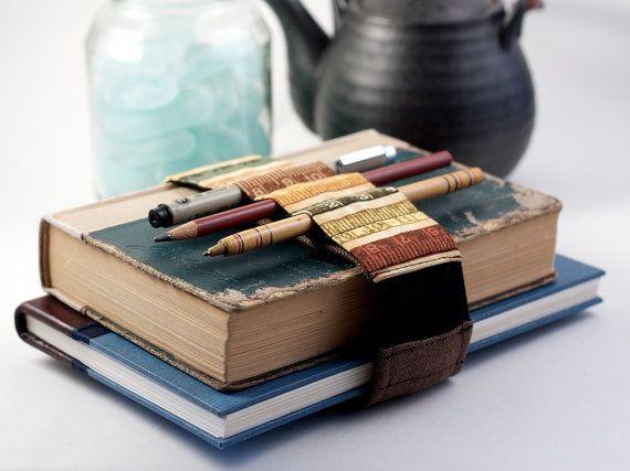 Adjustable Bandolier / replace your pencil case / earth tone ruler via Etsy