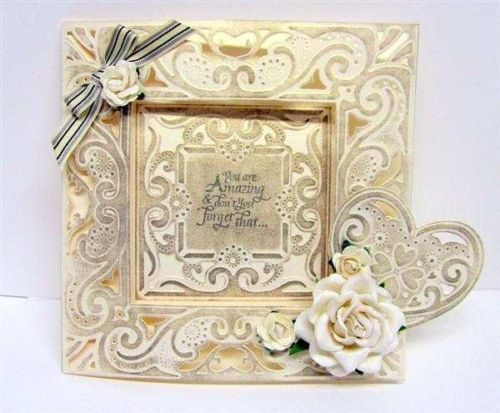 Redesign NEW-Crafters-Companion-DIESIRE-CREATE-A-CARD-DECADENCE-CUTTING-EMBOSSING-DIE