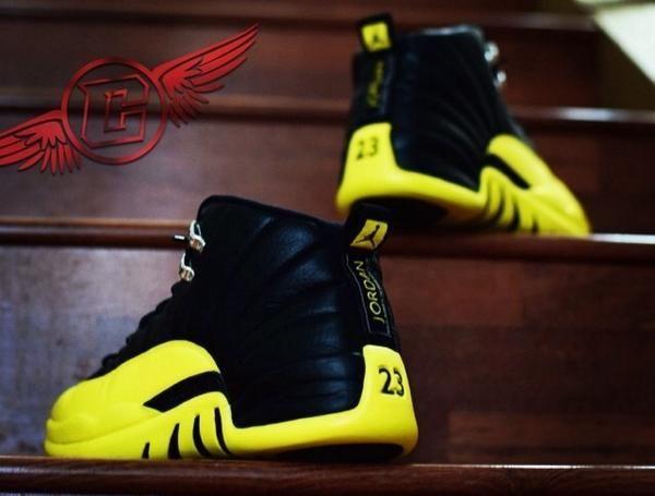 Thunder Air Jordan Custom 12 Nike Free Shoes Sneakers Shoes