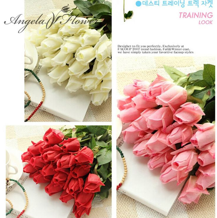 Free Shipping(11pcs/Lot) Fresh rose Artificial Flowers Real Touch rose Flowers, Home decorations for Wedding Party or Birthday //Price: $19.78 & FREE Shipping //     #partysupplieslight