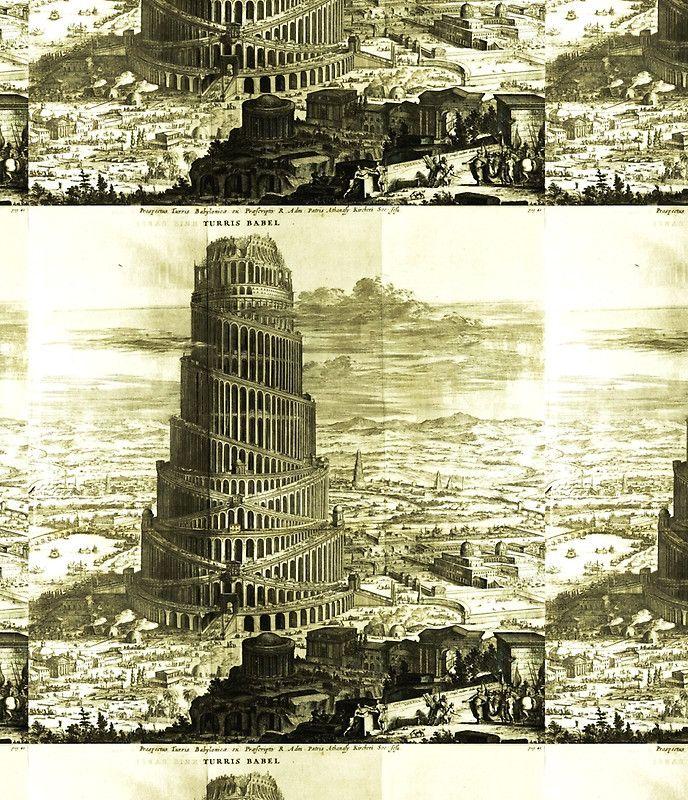 Tower of Babel, KIRCHER'S Turris Babel (1679)