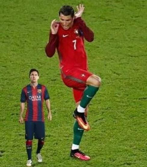 'Memes' de la pose de Cristiano Ronaldo