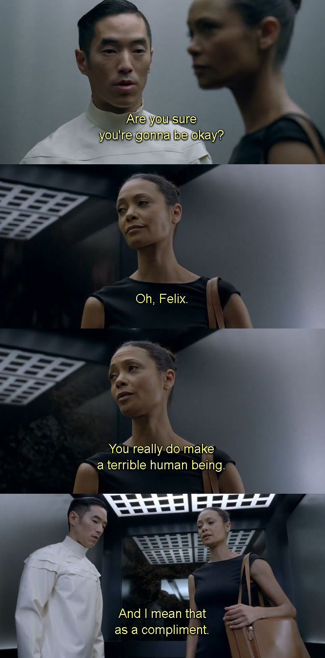 Final conversation between Maeve and Felix. #westworld