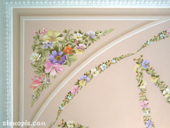 Деталь росписи потолка