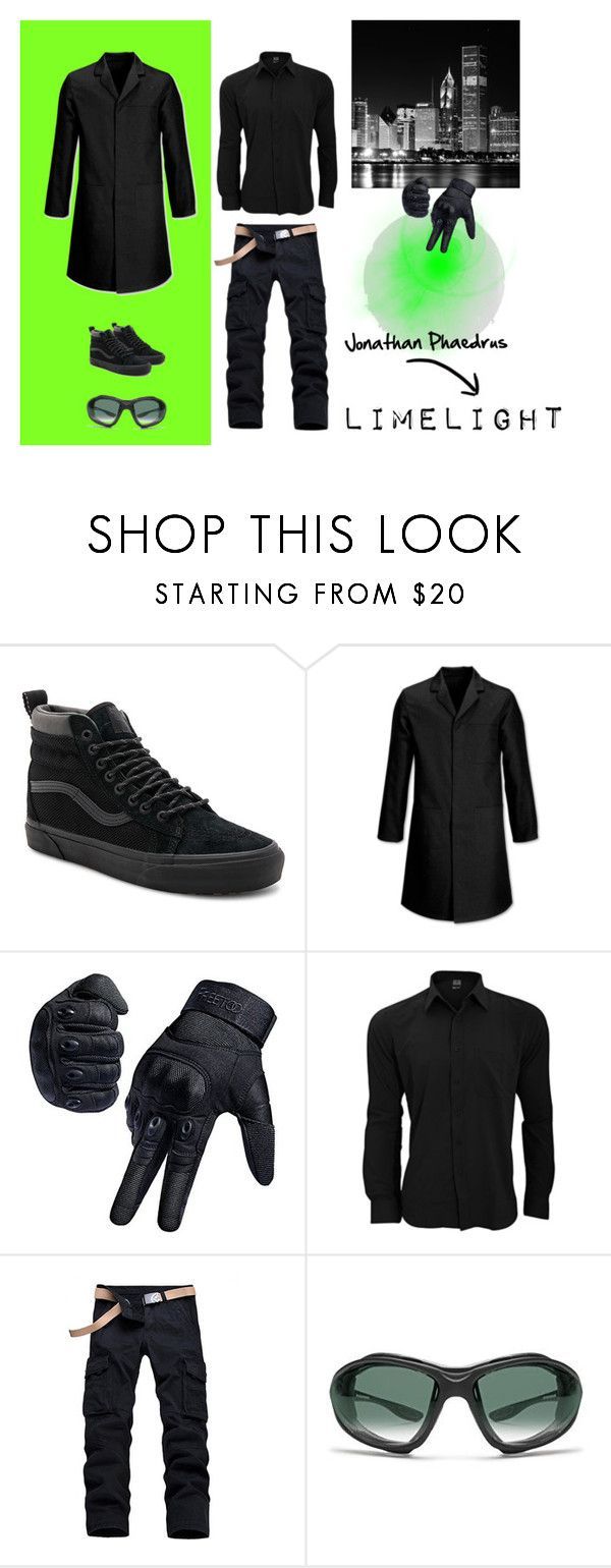 """The Reckoners Style: Jonathan Phaedrus/Limelight"" by estrellesdpaper ❤ liked on Polyvore featuring Vans, Banda, men's fashion, menswear, black, epic and reckoners"