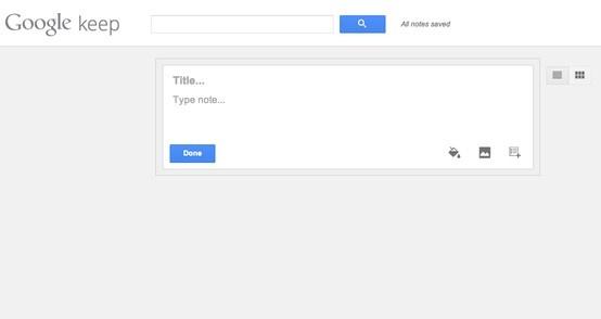Keep, un nouveau service pour la prise de notes signé Google #keep #google #outils #drive