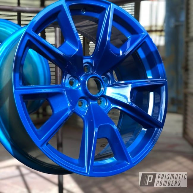 Can You Powder Coat Aluminum >> Powder Coated Blue 19 Inch Ford Mustang Wheels Illusions