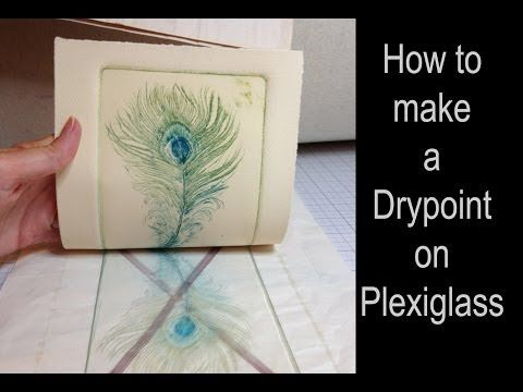 Making a drypoint engraving with plexiglass plate & inking multiple colors à la poupée - YouTube