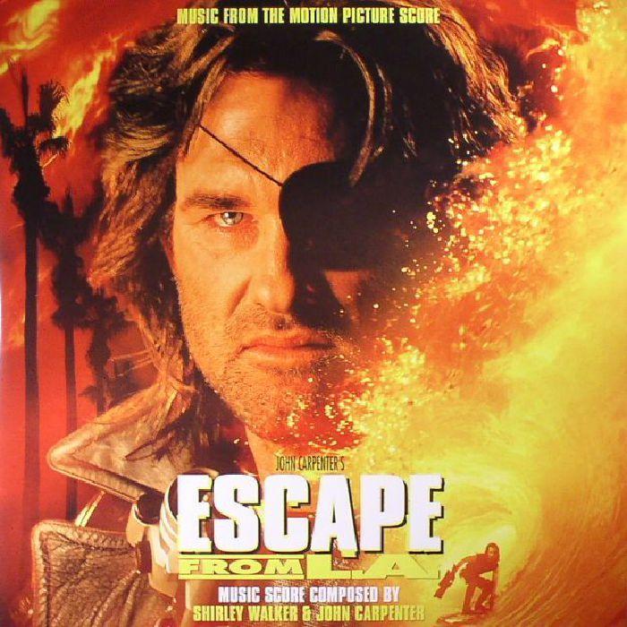The artwork for the vinyl release of: Shirley Walker | John Carpenter - Escape From LA (Soundtrack) (Real Gone Music) #music Leftfield