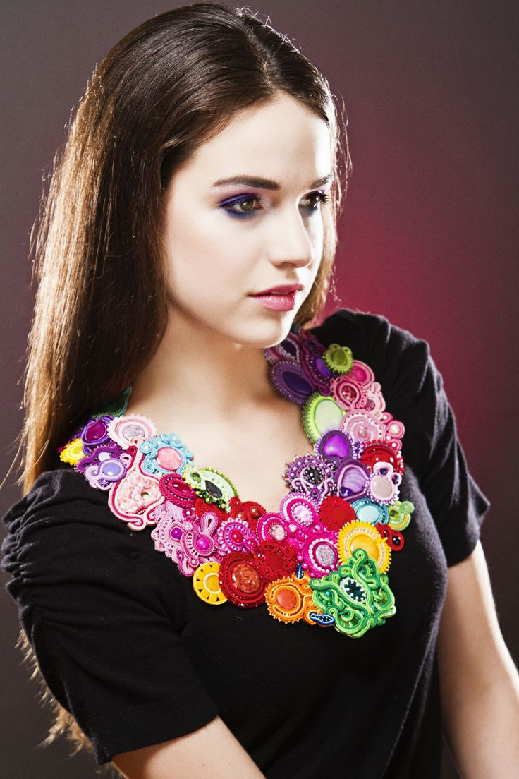 Great soutache necklace - Summer - from charity auction.