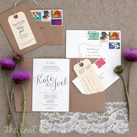 Wedding stationary found on a wedding blog