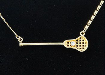LaCrosse Stick Pendant Necklace by GoSportsJewelry on Etsy, $35.00