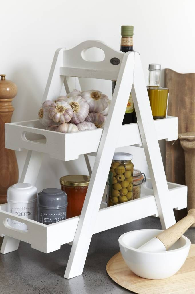 love this idea especially when you don't have much counter space!
