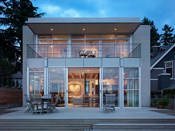 contemporary beach house plan   Dream House: Modern Translucent Open Plan Beach  House Designs