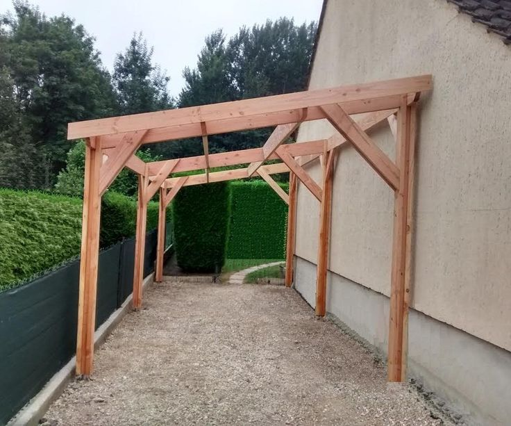 12 best Ossature et charpente bois images on Pinterest Flat roof - Montage D Un Garage En Bois