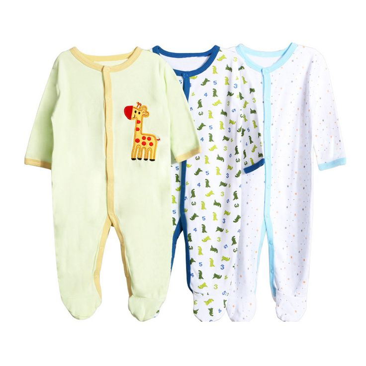 3 pieces/lot Fashion Model Cotton  Babe Rompers Colorful  Baby One-piece Long Sleeve Jumpsuit Cartoon Wear 15-327