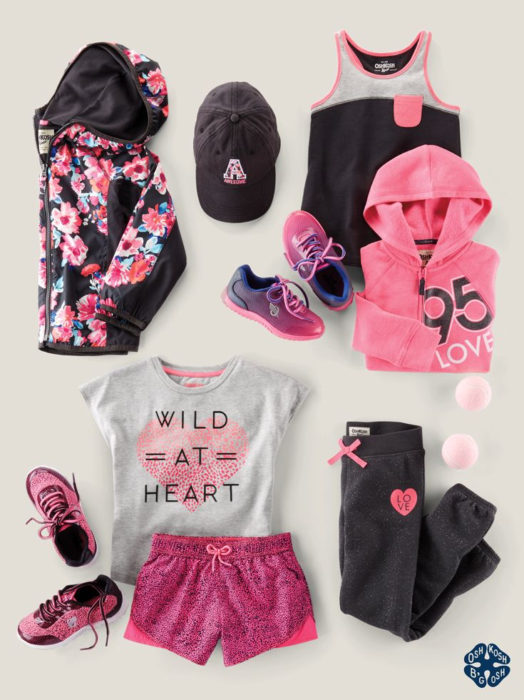Empower your girls to be playful and strong. Love from Team OshKosh. Shop the entire B'gosh Active collection at OshKosh.