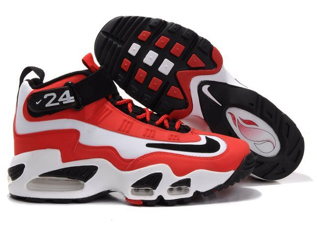 size 40 706a5 a1972 Nike Air Griffey Max 1 Mens Sport Red Black  griffeynation  Pinterest  Red  black, Red shoes and Running shoes