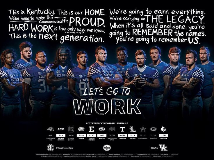 The next of our 2017 Kentucky Football Posters presented by Kroger. Available exclusively in Kroger Stores starting July 15. #GoToWork #thisishome
