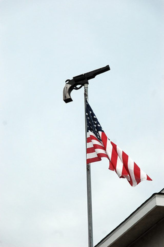 double flag pole