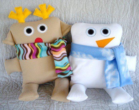 Забавные игрушки-подушки. Идеи для вдохновения.