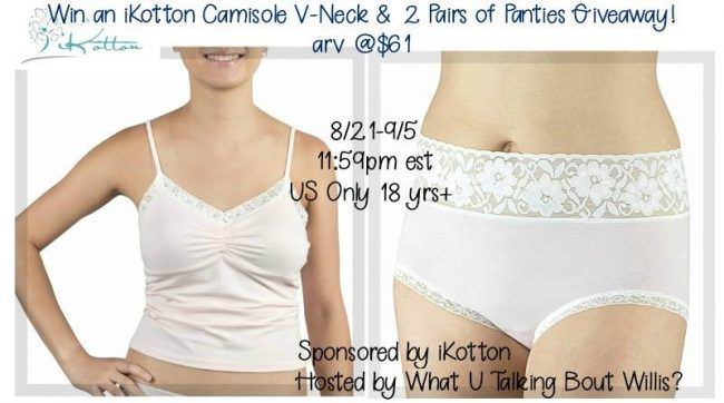 iKotton Lingerie Giveaway - Enter to Win a V-Neck Camisole and 2 Pairs of Panties