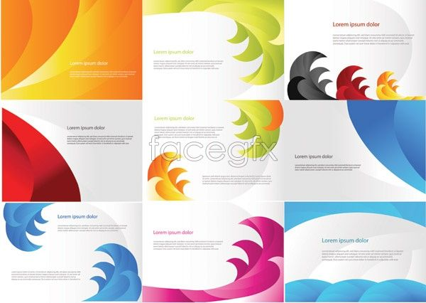 Fashion Wave Pattern Background Vector Vector Business Card Free Business Card Templates Colorful Business Card