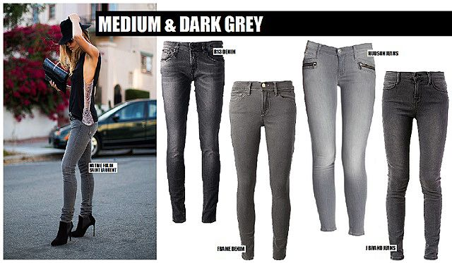 Medium-to-Dark-Jeans | Clothing | Pinterest | Grey, Trends and ...