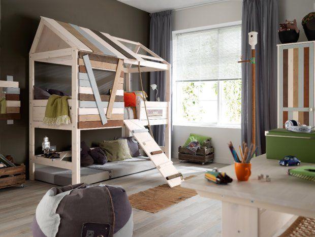 børneværelse1. Børneseng som hytte.