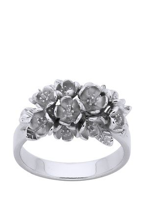 Shop for Jewellery at Incu \ Cluster Flower Ring in Silver by Karen Walker \ Incu