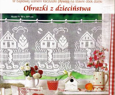 Filet work beautiful crochet curtains ♥LCC♥ with diagram ---  Ivelise Feito à Mão: Linda Cortina Em Crochê Filé