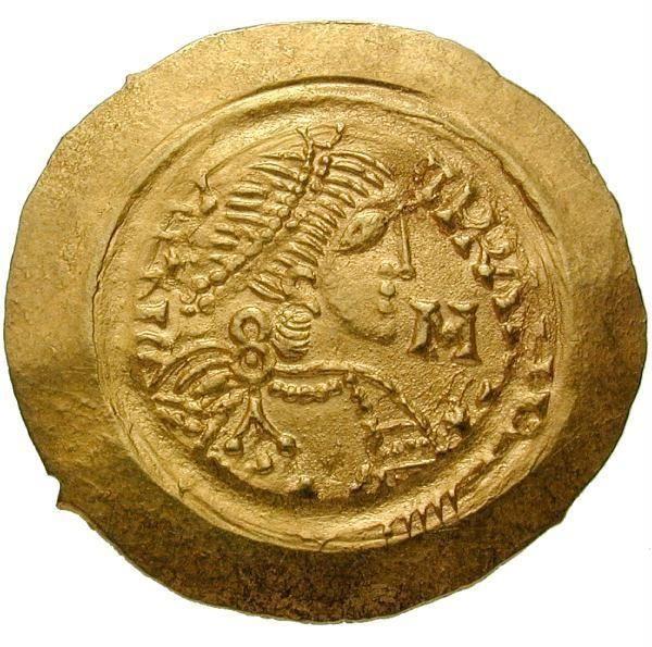 Tremissis des Langobarden-Königs Liutprand (712-744), aus Gold