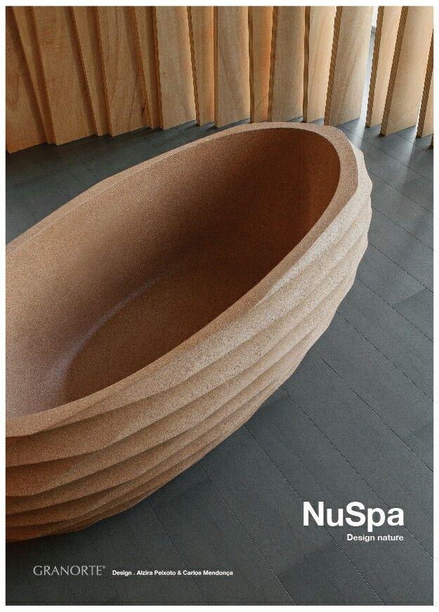 Bath tub made of cork