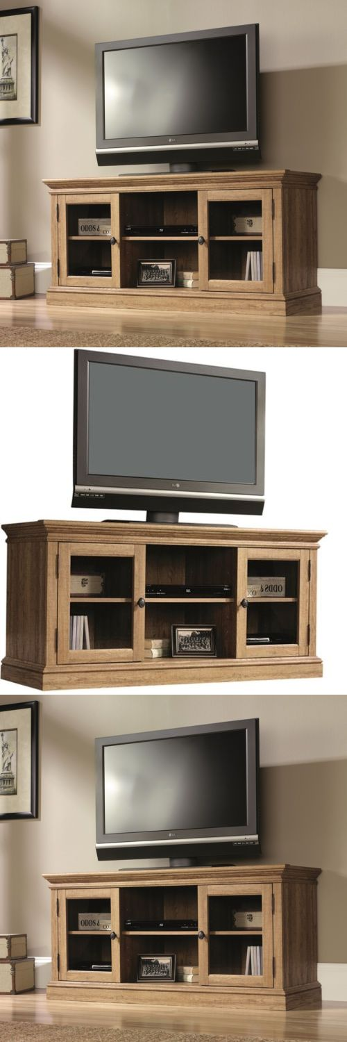 Entertainment Units TV Stands: 60 Tv Stand Entertainment Center Media Console Wood Storage Cabinet Furniture BUY IT NOW ONLY: $296.67
