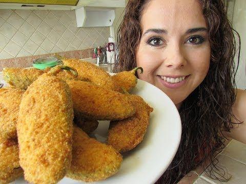Jalapeño poppers | Chiles Jalapeños rellenos queso | Recetas fáciles sin horno - YouTube