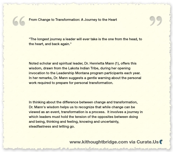 Transformation and Change  Clipped from www.kithoughtbridge.com