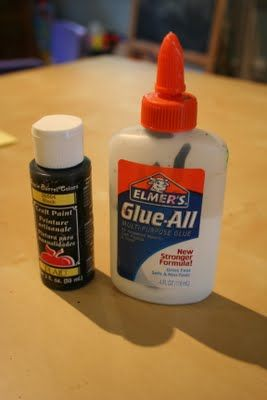 How to make black glue  You can make any colour glue this way