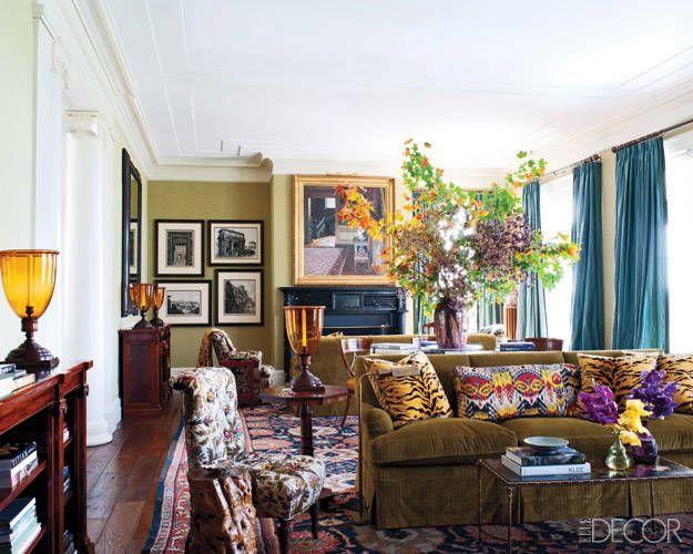 Best Interior Living Room Images On Pinterest - Classic interior design romantic twist