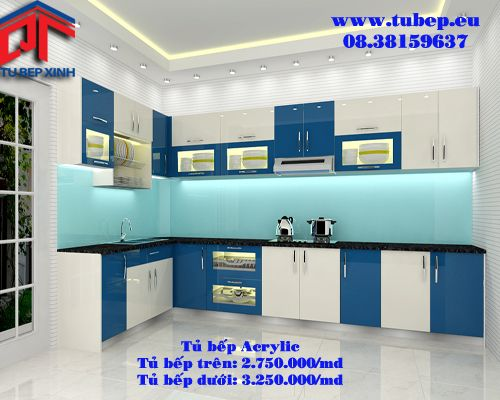 Tủ bếp hiện đại nhà anh Liêm BTT2.
