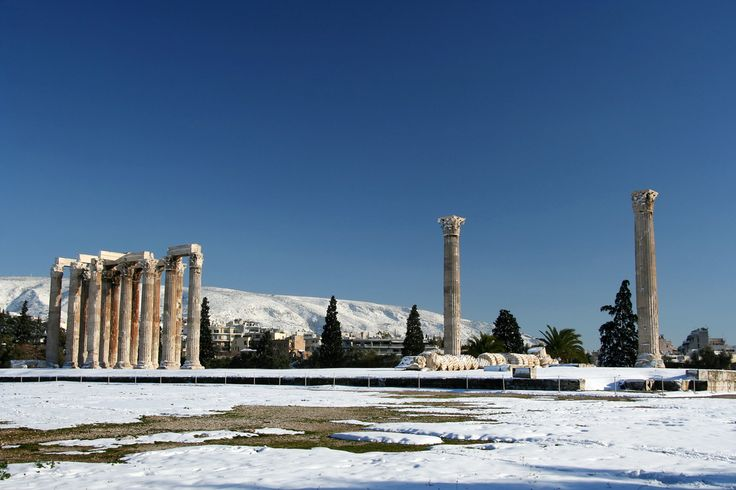 The ancient temple of Olympian Zeus in Athens