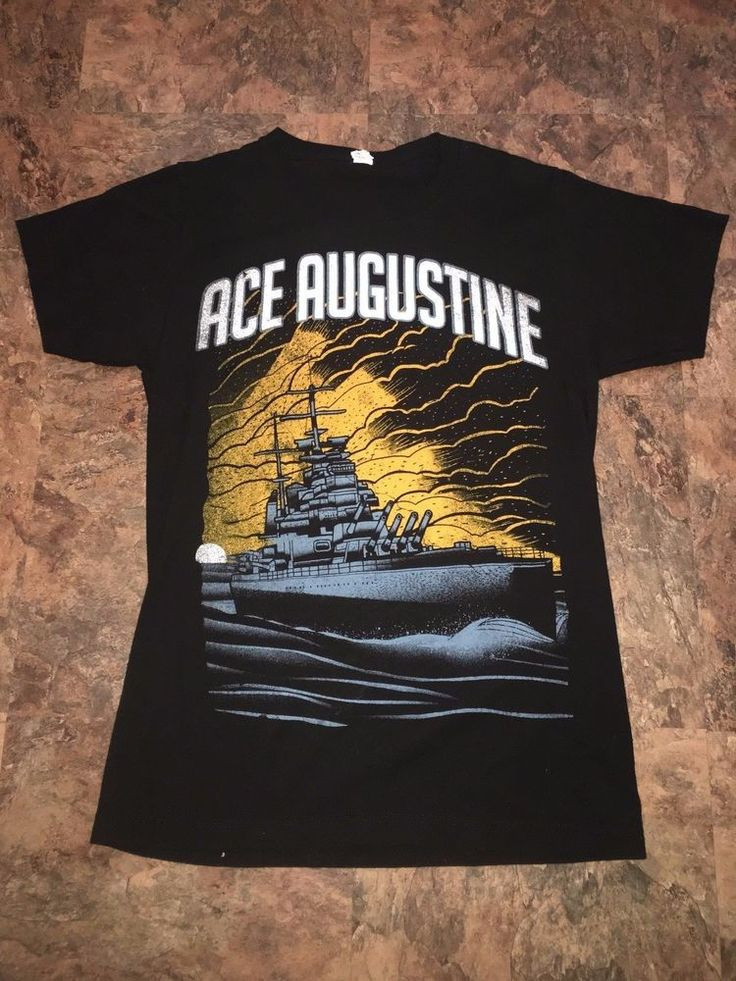 Ace Augustine Christian Heavy Metal Concert Band T Shirt Small Rare Skies open  #Tultex #GraphicTee