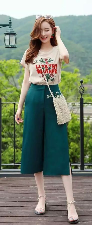 b50fee33d7c0c Beautiful square pants outfit ideas 30+ | Fashion | Fashion, Square ...