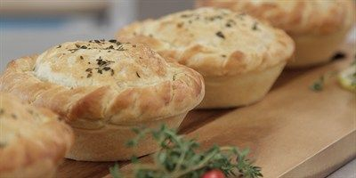 Try this Creamy Lemon Chicken Pies recipe by Chef Angela.This recipe is from the show The Great Australian Bake Off.
