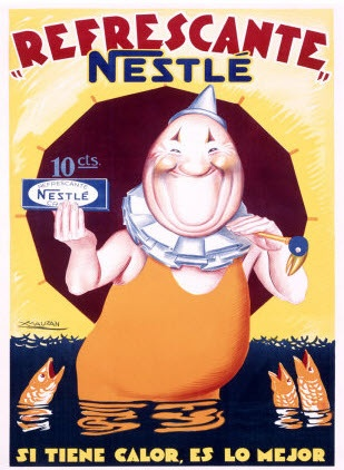 French chocolate poster for Nestle