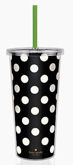 WAIT!!! WHAT?? Polka Dots AND Kate Spade??? kate spade polka dot tumbler http://rstyle.me/n/fag2rnyg6
