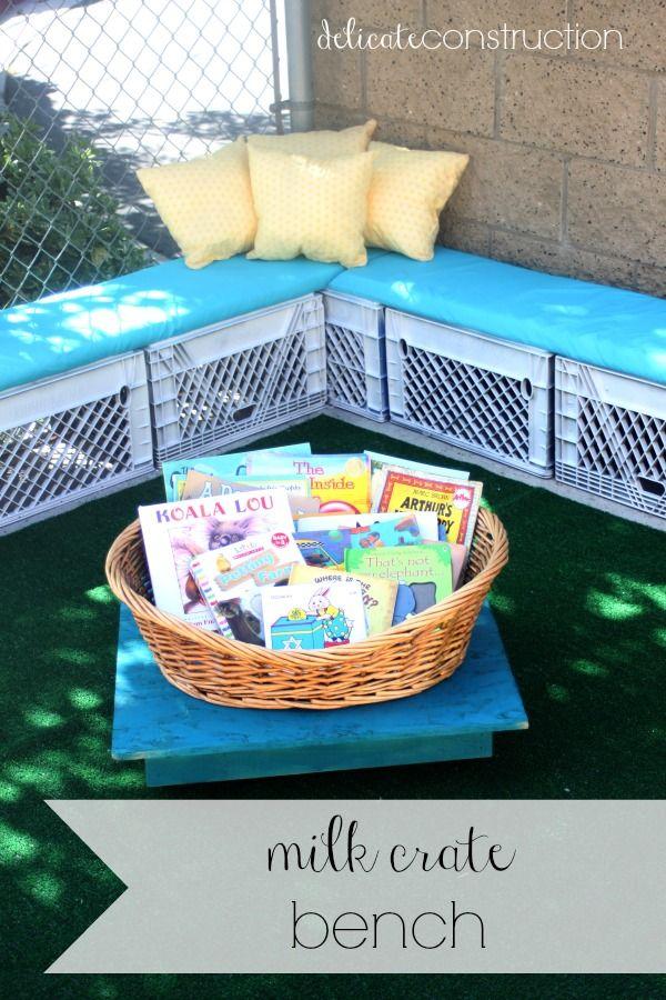 Best 25 milk crate bench ideas on pinterest diy storage for Milk crate crafts