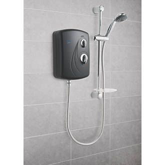 Triton Enrich Black Manual Electric Shower Black Black electric shower, ideal replacement. Easy to install with multiple entry points for water and cable. Separate temperature and power controls for ease of use. Includes economy setting. Supplied wi http://www.MightGet.com/january-2017-13/triton-enrich-black-manual-electric-shower-black.asp