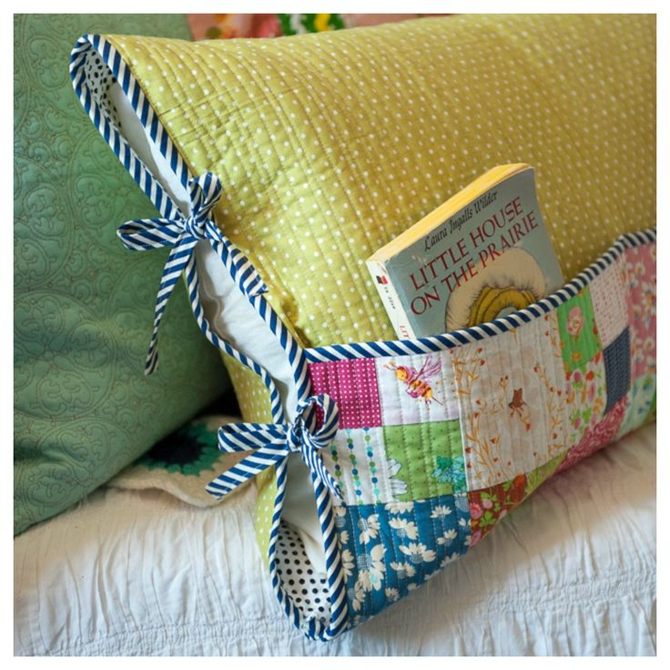 how to make a reading pocket pillow